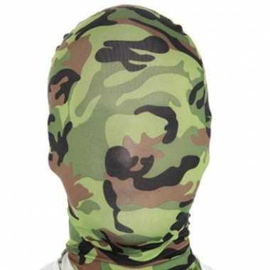 Camouflage masker zentai pak