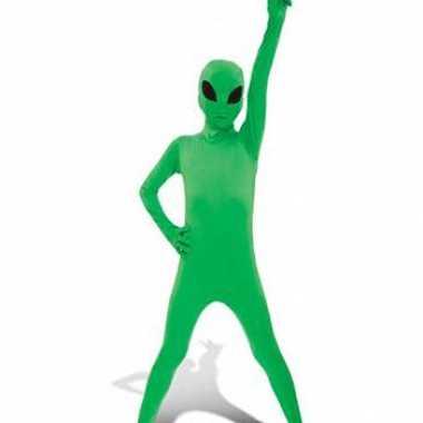 Kinder zentai groene alien pak