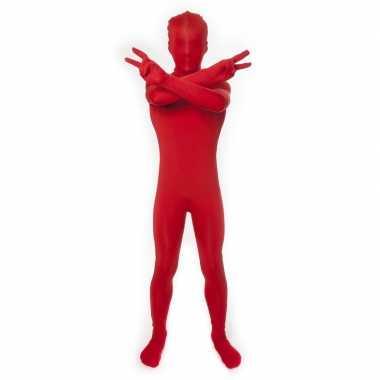 Zentai kinder pak rood