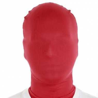 Zentai lycra masker rood pak