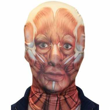 Zentai masker gevild gezicht pak