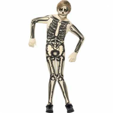 Zentai skelet pak kinderen